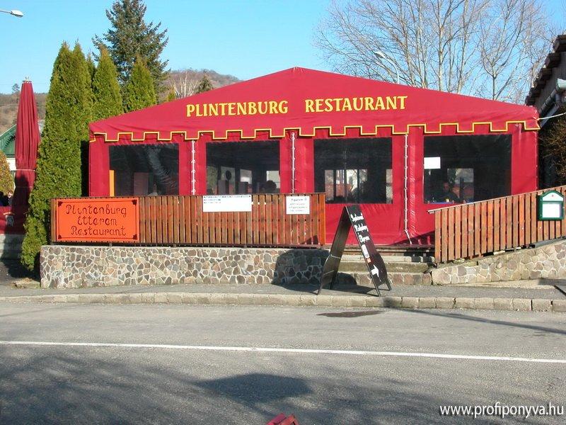 Étterem terasz ponyva