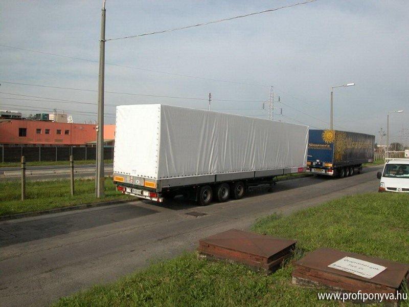 Kamion ponyva készítés, feliratozás