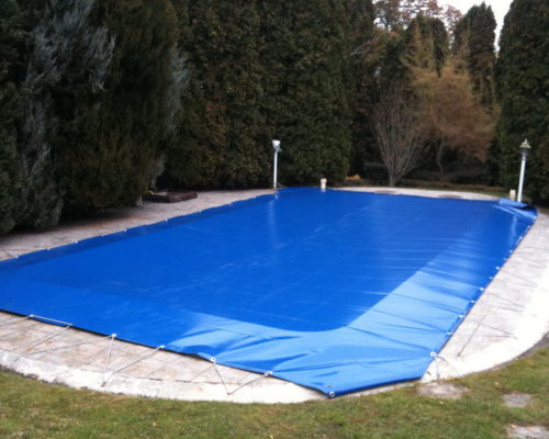 Kék medence takaró ponyva