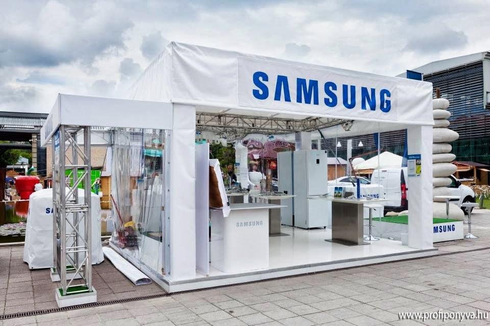 Samsung fehér kiállító sátor