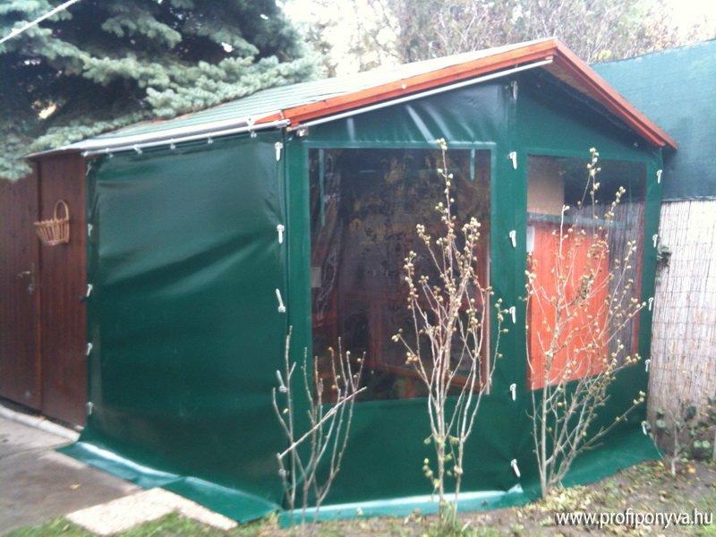 Zöld elárusító sátor