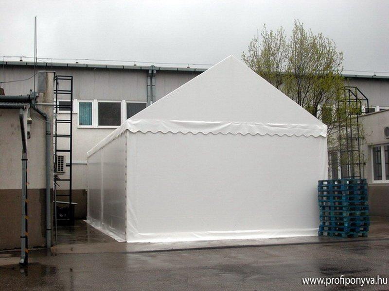 Fehér raktár sátor